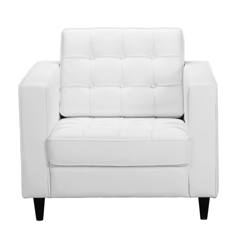 Romano Club Chair White More Decor