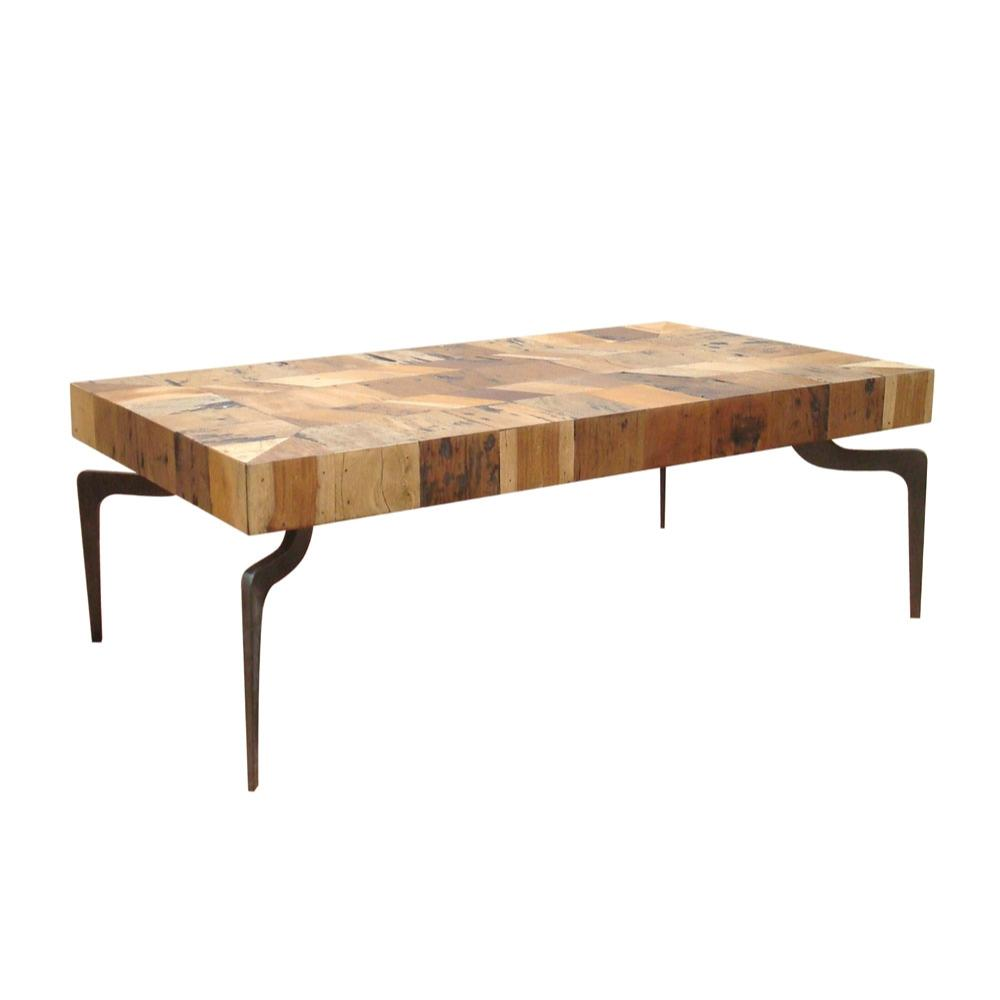 Gajel Coffee Table With Metal Legs More Decor