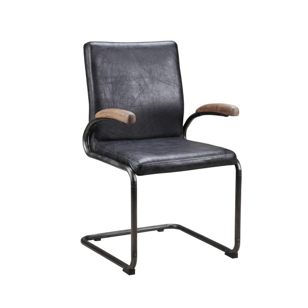 Perth Arm Chair Antique Black - More Decor
