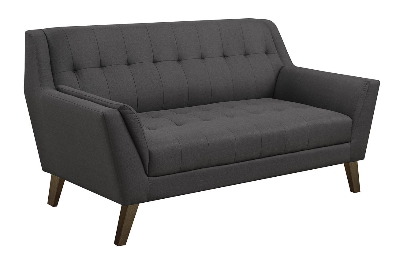 Binetti Loveseat Charcoal More Decor