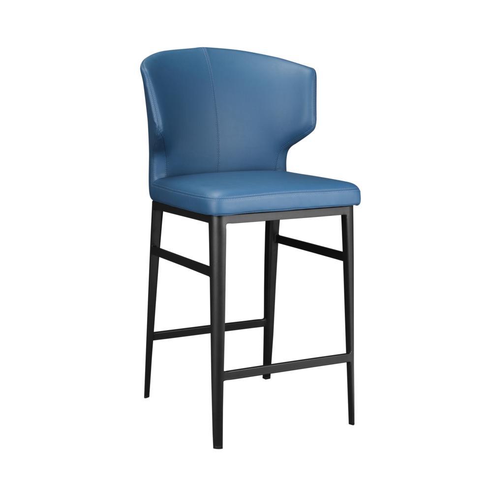 Delaney Counter Stool Steel Blue More Decor