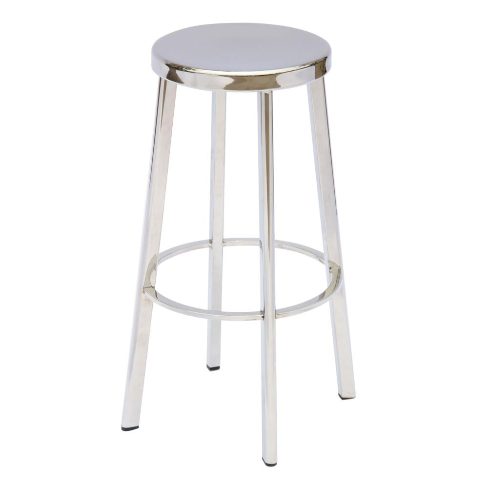 Vitter Stainless Steel Bar Stool More Decor