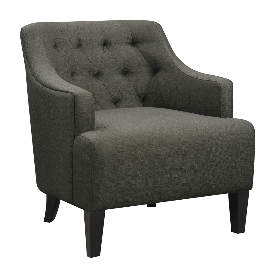 Maxi Accent Chair Charcoal More Decor