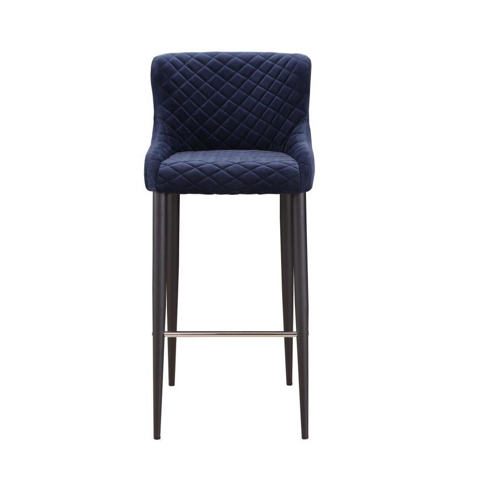 Etta bar stool dark blue more decor for Abanos furniture industries decoration llc